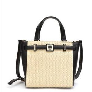 Kate Spade Houston Street Leo Straw/Leather Bag
